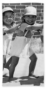 Four Little Girls Having Fun Beach Towel