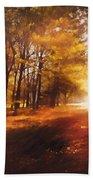 Four Seasons Autumn Impressions At Dawn Beach Towel