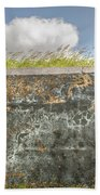 Fourt Moultrie Battery Jasper Wall Beach Sheet
