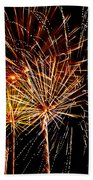 Fourth Of July Fireworks  Beach Towel by Saija  Lehtonen