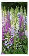 Foxglove Garden In Golden Gate Park Beach Towel
