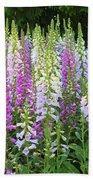 Foxglove Garden In Golden Gate Park Beach Sheet