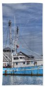 Shrimp Boat At Port Beach Towel