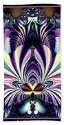 Fractal 26 Jeweled Tone Lotus Flower Beach Towel