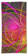 Fractal - Abstract - Loopy Doopy Beach Towel by Mike Savad