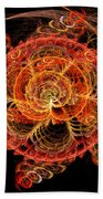 Fractal - Abstract - Mardi Gras Molecule Beach Towel