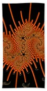 Fractal Art - A Creepy Crawly Beach Towel
