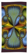 Fractal Art Egg Beach Towel