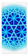 Fractal Escheresque Winter Mandala 4 Beach Towel