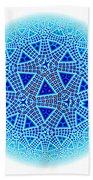 Fractal Escher Winter Mandala 5 Beach Towel