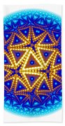 Fractal Escheresque Winter Mandala 6 Beach Towel