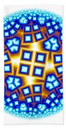 Fractal Escheresque Winter Mandala 9 Beach Towel