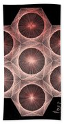 Fractal Fusion Hw Equals Mc Squared Beach Towel by Jason Padgett