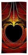 Fractal - Heart - Victorian Love Beach Towel