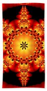 Fractal In The Centre Beach Towel