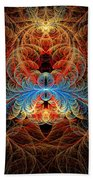 Fractal - Insect - Black Widow Beach Towel