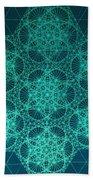 Fractal Interference Beach Towel by Jason Padgett