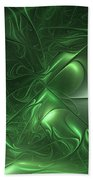 Fractal Living Green Metal Beach Towel