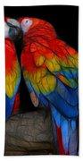 Fractal Parrots Beach Towel