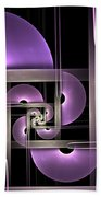 Fractal Purple Semicircles Beach Towel