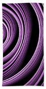 Fractal Purple Swirl Beach Towel