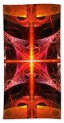 Fractal - Science - Cold Fusion Beach Towel by Mike Savad