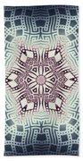 Fractal Snowflake Pattern 1 Beach Towel