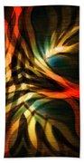 Fractal Swirl Beach Towel