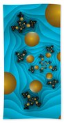 Fractal The Blue Depth Beach Towel