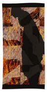 Fractured Overlay I Beach Towel