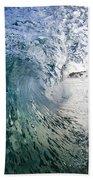 Fractured Tube. Beach Towel by Sean Davey