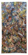 Fragmented Fall - Square Beach Towel