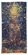 Fragmented Flame Beach Towel