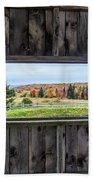 Framed-autumn In Vermont Beach Towel