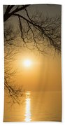 Framing The Golden Sun Beach Towel