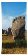 France Brittany Carnac Ancient Megaliths  Beach Towel