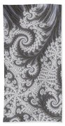 Franciful Frost  Beach Towel