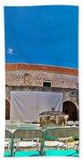 Franciscian Monastery In Hvar Panorama Beach Towel