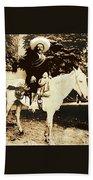 Francisco Villa On Horse Perhaps Siete Leguas Unknown Mexico Location Or Date 2013. Beach Towel