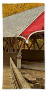 Franconia Notch Flume Gorge Bridge Beach Towel
