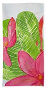 Frangipani Tree Beach Towel