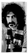 Frank Zappa - Chalk And Charcoal 2 Beach Towel by Joann Vitali