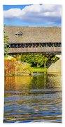 Frankenmuth Covered Bridge Beach Towel