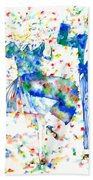 Fred Astaire And Ginger Rogers Watercolor Portrait Beach Towel