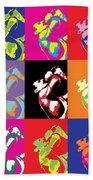 Freddie Mercury Pop Art Beach Towel