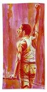 Freddie Mercury Singing Portrait.3 Beach Towel