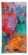 Freddy Fish And Friends Beach Towel