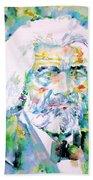 Frederick Douglass - Watercolor Portrait Beach Towel