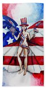 Free As Independence Day Beach Towel by Shana Rowe Jackson