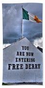 Free Derry Wall Beach Towel